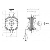 Motor ventilador frigorífico sin hélice 10 w