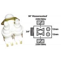 Electroválvula lavadora universal 2 vías 90º D-12D