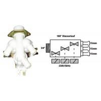 Electroválvula lavadora universal 3 Vías 180° Ø:3x15 mm