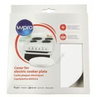 Cubre placa blanca para cocinas eléctricas
