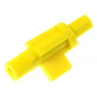 Eje regulador amarillo de molido para cafetera Philips Saeco