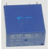 Relé 12VDC 3A-125VAC 2 contactos