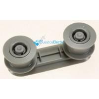 Soporte rueda para cesta superior lavavajillas Zanussi, AEG, Electrolux
