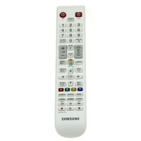 Mando a distancia blanco para televisores Samsung