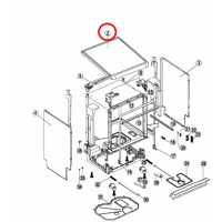 Tapa superior para lavavajillas Ignis, Whirlpool